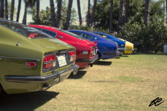 A row of Datsun Zs.